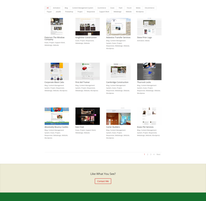 Webdesign Portfolio Section Complete