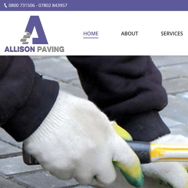 Allison Paving Webdesign