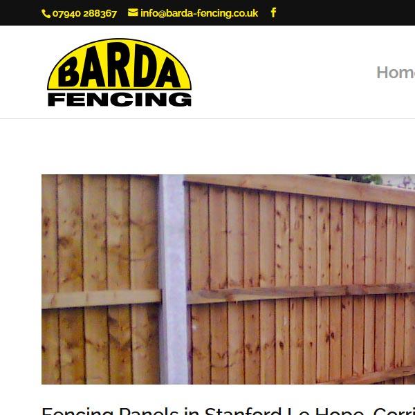 Barda Fencing Webdesign
